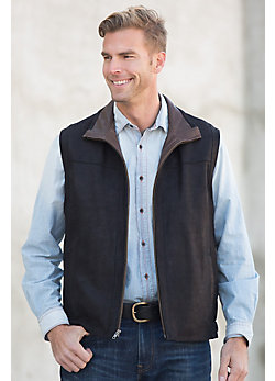 Wesley Nubuck Lambskin Leather Vest