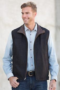 Wesley Nubuck Lambskin Leather Vest