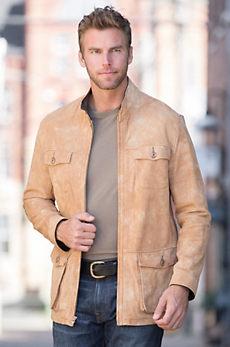 Floyd Lambskin Suede Leather Coat