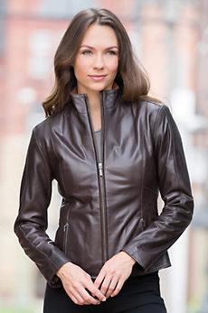 Astrid Lambskin Leather Jacket