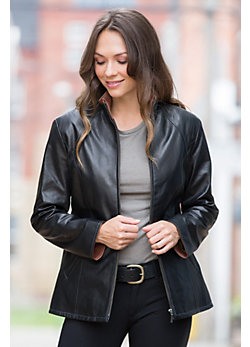 Rosemary Lambskin Leather Jacket