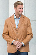 Lowell Lambskin Leather Blazer