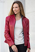 Jocelyn Lambskin Leather Jacket