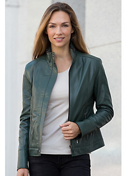 Lily Lambskin Leather Jacket