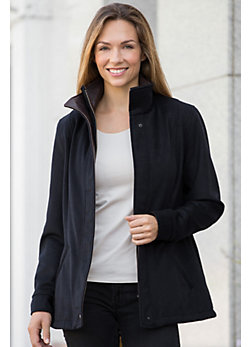 Kinsey Wool & Cashmere Coat with Lambskin Leather Trim