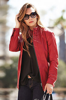 Bethesda Italian Lambskin Leather Jacket