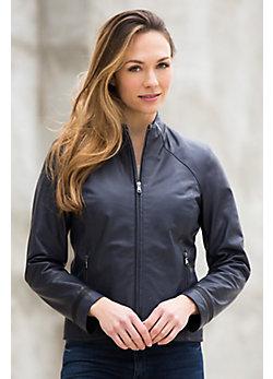Audie Lambskin Leather Jacket