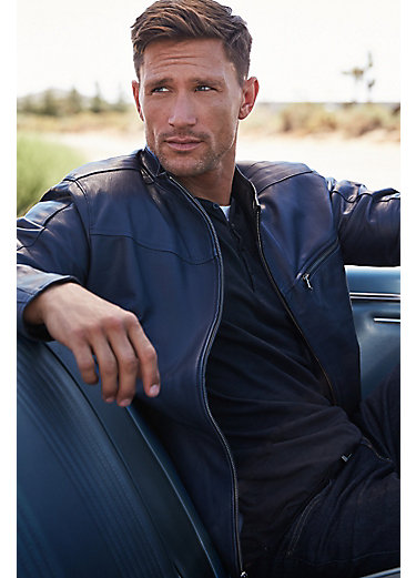 Cassidy Italian Lambskin Leather Moto Jacket