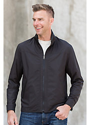 Noah Reversible Microfiber Jacket with Lambskin Leather Trim