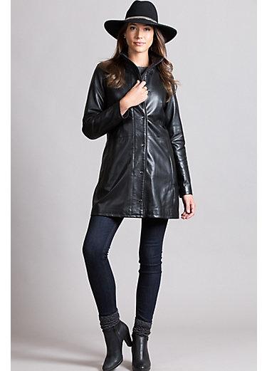 Judy Lambskin Leather Coat