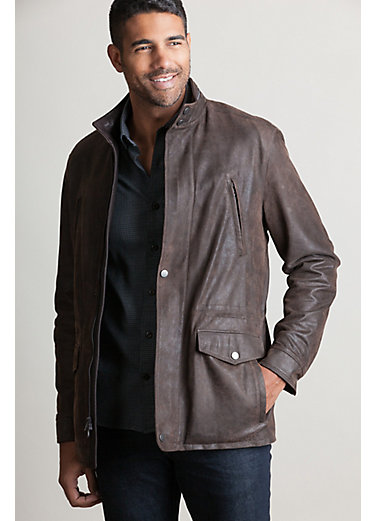 Anthony Italian Distressed Lambskin Leather Jacket