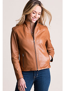Anabel Italian Lambskin Leather Jacket