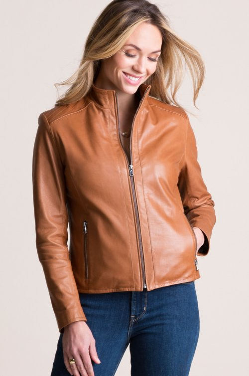 Anabel Italian Lambskin Leather Jacket