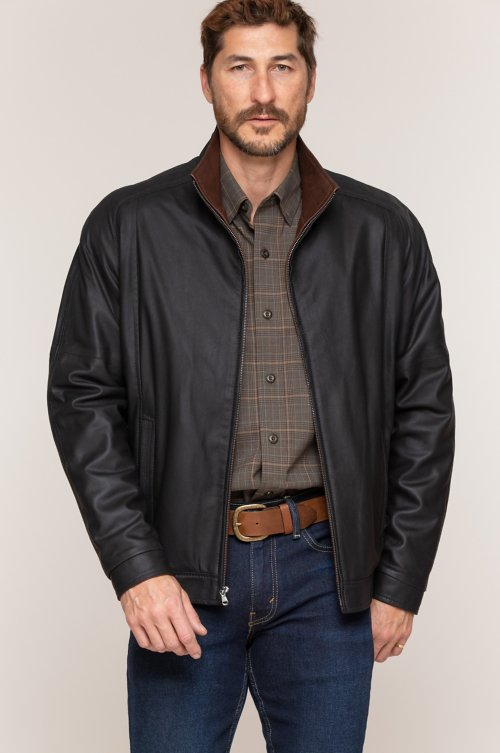 Andrew Italian Lambskin Leather Jacket