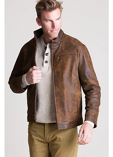 Franklin Distressed Italian Lambskin Leather Jacket