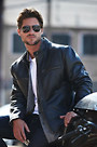 Retro Motocross Cowhide Leather Jacket