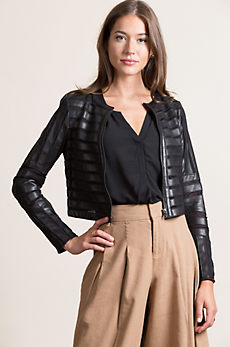 Coco Lambskin Leather Jacket