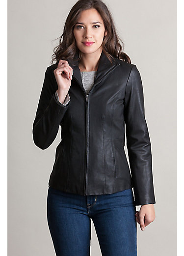 Marsha Goatskin Leather Moto Jacket