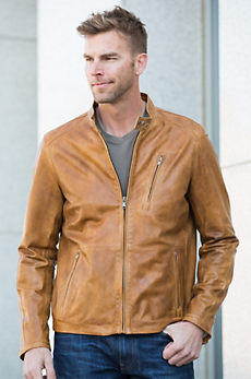 Alfred Lambskin Leather Jacket