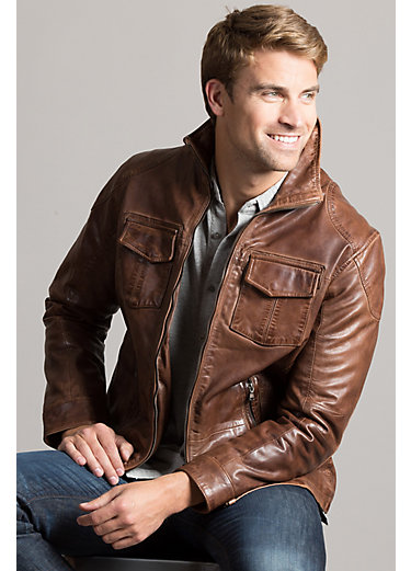 Heath Lambskin Leather Moto Jacket