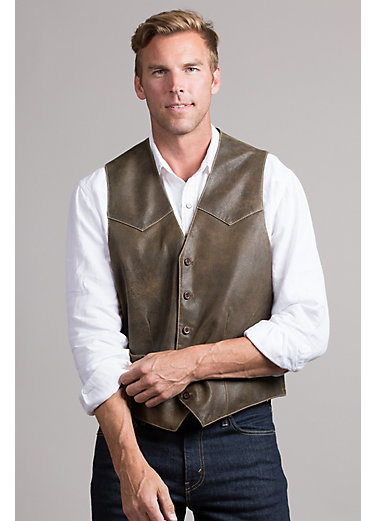 Glenn Waxed Lambskin Leather Vest