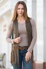 Sonia Fringed Lambskin Leather Vest