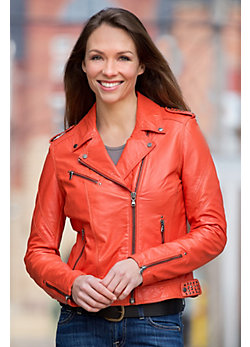 Lessi Lambskin Leather Jacket