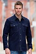 Clint Goatskin Suede Leather Shirt Jacket