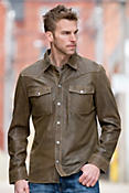 Clint Lambskin Leather Shirt Jacket