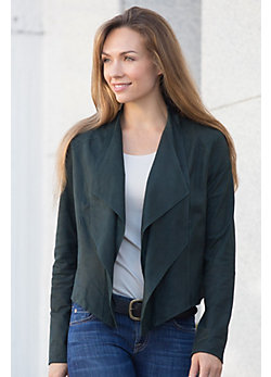 Zura Goatskin Suede Leather Jacket