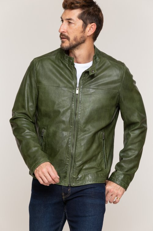 Evo Lambskin Leather Moto Jacket