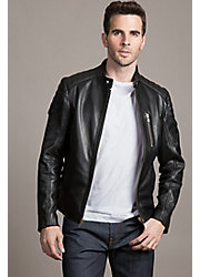 Soto Cowhide Leather Moto Jacket