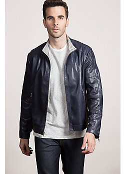 Delton Reversible Lambskin Leather Jacket