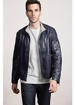 Delton Reversible Lambskin Leather Jacket
