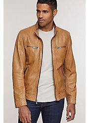 Stanley Lambskin Leather Biker Jacket