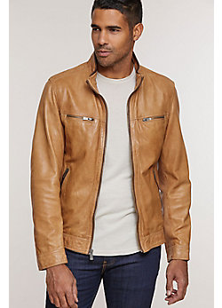 Stanley Lambskin Leather Biker Jacket
