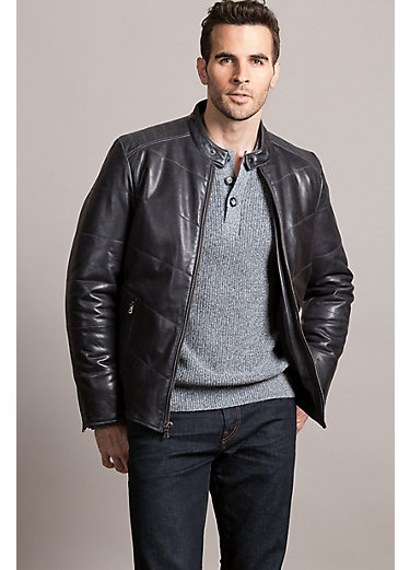Glade Moto Waxed Lambskin Leather Jacket