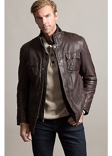 Paul Lambskin Leather Jacket