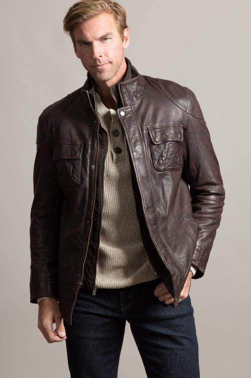 Paul Lambskin Leather Jacket
