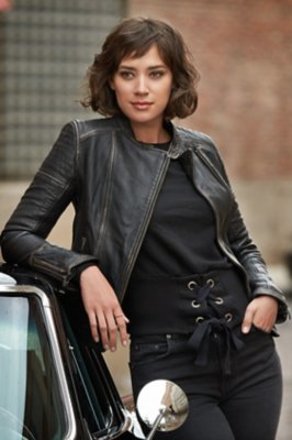 75bef47d703 Chelsea Lambskin Leather Moto Jacket   Overland