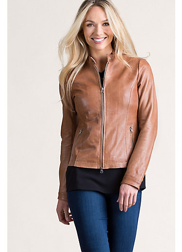 Stella Lambskin Leather Moto Jacket