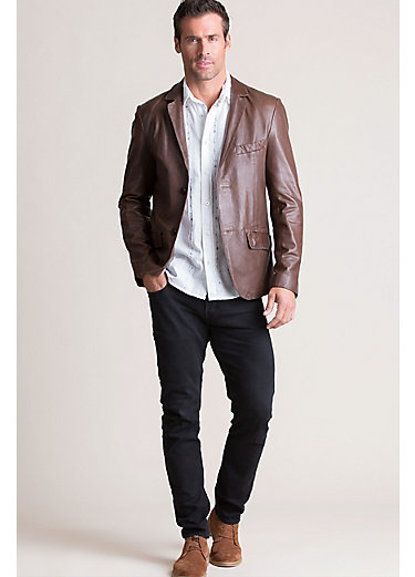 Joshua Lambskin Leather Blazer