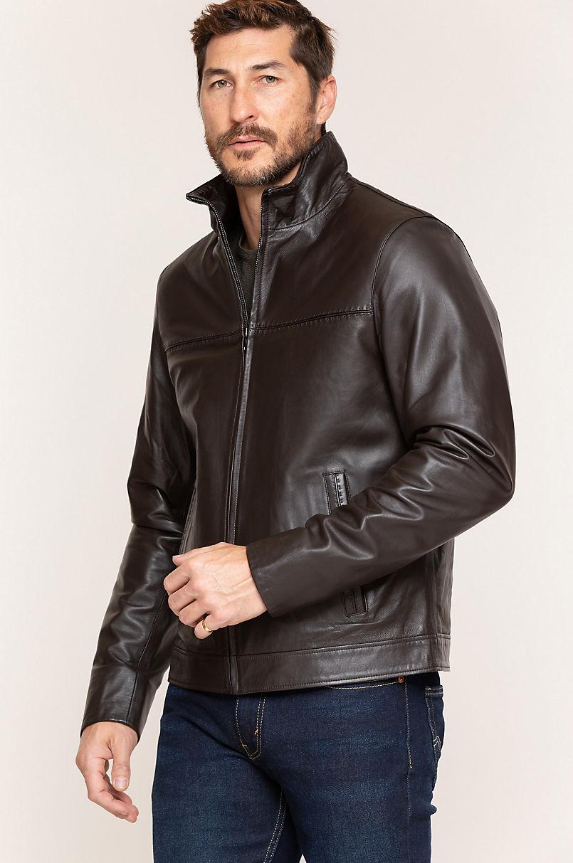Rolf Brown Italian Lambskin Leather Jacket