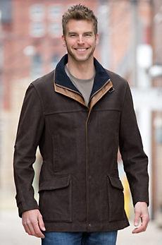 Richmond Lambskin Leather Field Coat