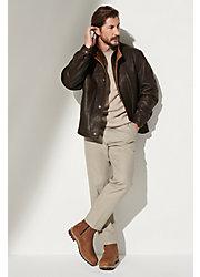 Romano Leather Jacket (Tall 38L-46L)
