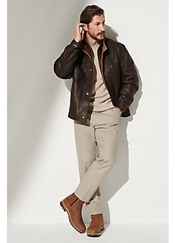 Romano Leather Jacket (Tall 38L-46L)