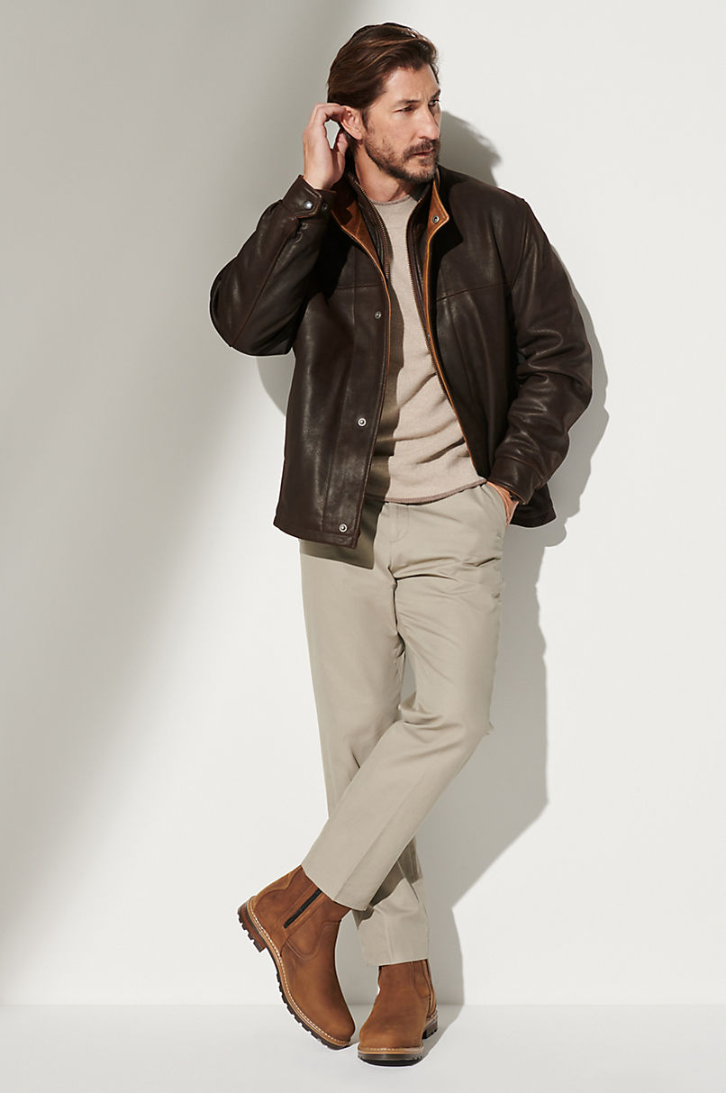 Romano Leather Jacket - Tall (38L-46L)