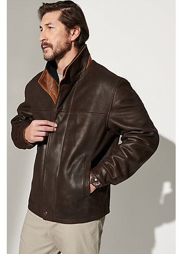 Romano Leather Jacket - Big & Tall (48L-52L)