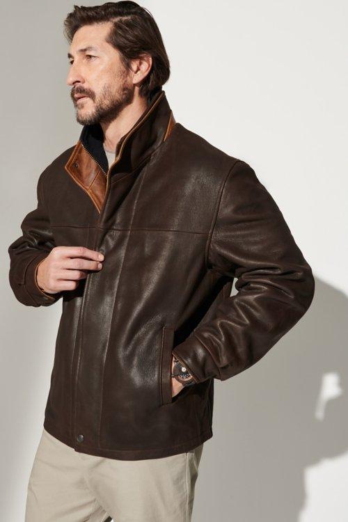 Romano Leather Jacket - Big & Tall (48L-52L)