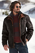 Jack Frost Leather Coat with Shearling Lining (Tall)